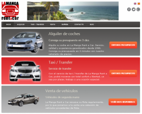 La Manga Rent a Car web site screenshot